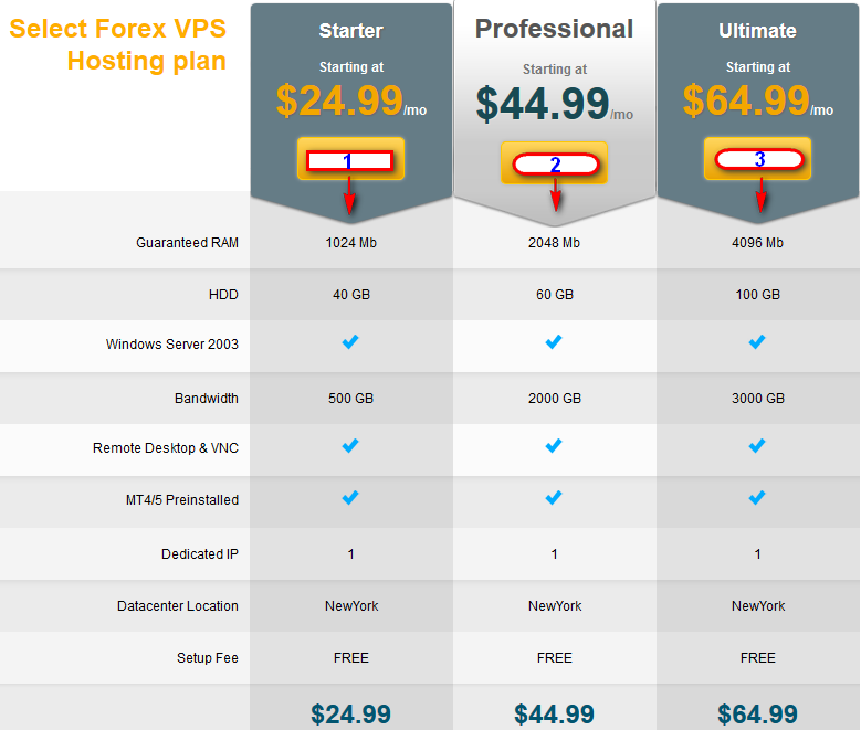 forex vps select types