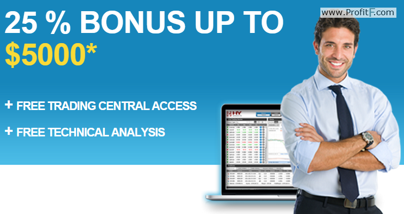 HY Markets – Welcome Bonus up to 25