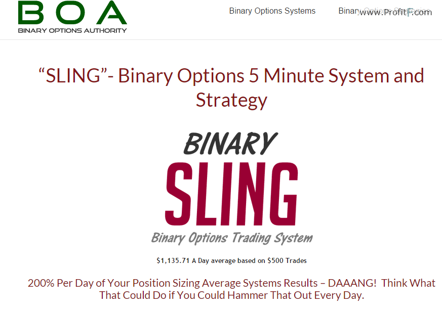 (1)Binary Sling strategy Screen