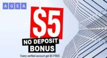$5 Forex NO Deposit Bonus – AGEA