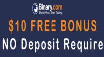 Binary.com $10 No Deposit Bonus
