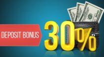 30% Deposit Bonus – Forex Optimum
