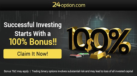 100% Welcome Deposit Bonus – 24OPTION