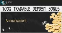 100% Deposit Bonus – FX77