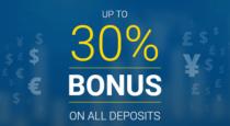 30% Deposit Bonus – AAAFX